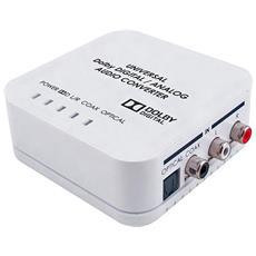 Converte Un Segnale Audio Digitale Oppure Analogico Con Decoder Dolby Digital In Formato Audio Tra I Sistemi Ottico, Coassiale E Analogico.