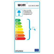 ARIZONA Supporto rigido E14 Cromo A, A+, A++, B, C, D, E lampada a sospensione