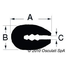 Profilo PVC nero 3,5 mm (rotolo 24 m)