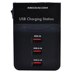 Caricabatterie Multiplo Universale 3S - Nero