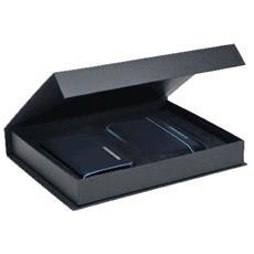 blue square cofanetto regalo con porta blackberry e porta biglietti da visita, blu notte - acbox02b2 / blu