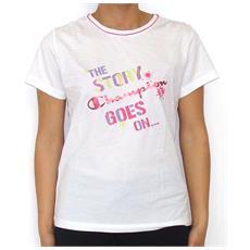T-shirt Bambina Authentic Girl M Bianco