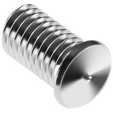 Perni A Saldare - M5 - 10 Mm - Acciaio Inox - 100 Pezzi