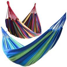 Amaca Da Giardino 200 Kg Max Portatile Con Sacco Cotone Campeggio Vacanze Relax