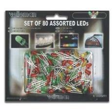 K / LED1, Verde, Rosso, Giallo, 5V, 5V, 0 Hz, 5 mm, Acrilico