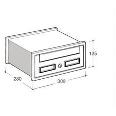 "Cassetta Postale Modulo ""SC1"" 300x280 mm"