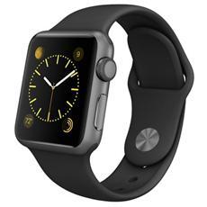 APPLE - Watch Sport Cassa da 38 mm in Alluminio Colore Grigio e Cinturino Sport Nero con Bluetooth e Wi-Fi -...