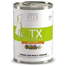 Cibo per cani DTX Sensible Tonno riso e verdure 400 gr