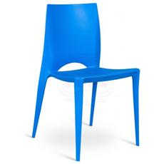 Sedia Impilabile Realizzata In Polipropilene Blu Denise Om 164 Bl