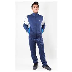 Tuta Uomo Track Suit Full Zip Blu Azzurro Xxl