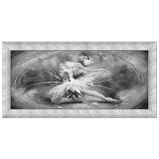 Quadro Su Tela Prince 65x135 Cm Dancing Butterfly Black Silver