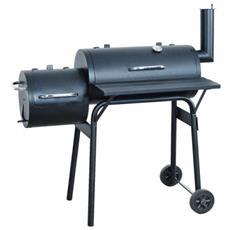 Barbecue Grill Doppia Griglia T154 Acciaio 63x112x117cm