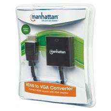 HDMI - VGA HDMI VGA, Micro-USB Nero cavo di interfaccia e adattatore