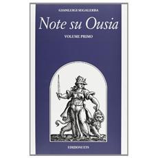 Note su Ousia. 1.