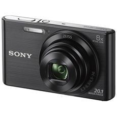 DSC-W830 Nero Sensore CCD 20Mpx Zoom Ottico 8x Display 2.7' Filmati in HD Stabilizzato