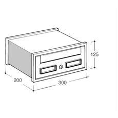"Cassetta Postale Modulo ""SC1"" 30x20x12.5 cm"