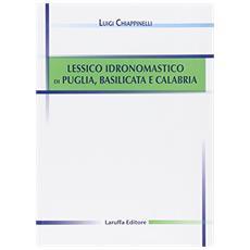 Lessico idronomastico di Puglia, Basilicata e Calabria