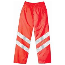 Pantaloni Ad Alta Visibilità In Poliestere Oxford Traspirante Colore Rosso Taglia 2xl