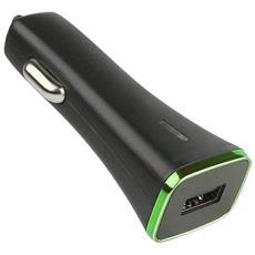 IUSB2-CAR3-3A1P - Caricatore da Auto 1p USB con uscita 3A Nero