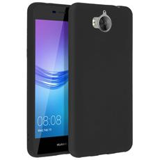 Cover Huawei Y6 2017 Soft Touch Silicone Gel Morbido - Nera