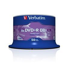 DVD+R Double Layer 8x Matt Silver 50pk Spindle, DVD+R DL, Fuso