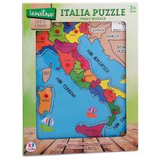 Puzzle Italia in legno