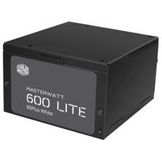 Alimentatore MasterWatt Lite 600W-230V ATX Certificazione 80 Plus