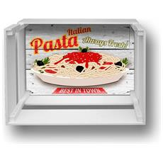 Mensola Decorativa Da Parete Design Moderno Shelf Box 30x40cm H. 20 Pasta