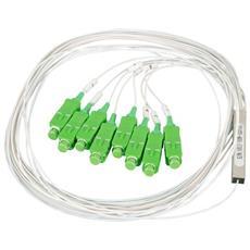 ILWL SPLIT-PLC4LC9 - Splitter Sfioccamento Fibra Ottica PLC 4 LC / APC Monomodale
