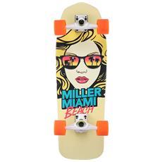 """Surfskate Miami Beach 31"""""""" S01ss0006 Skateboard Tipo Surfskate Completo - Componenti Di Alta Qualità"""