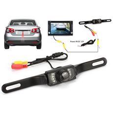 Telecamera Auto Wireless Led Posteriore Per Targa Retromarcia Parcheggio No Fili
