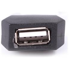 12m USB 2.0, USB A, USB A, Maschio / femmina, Dritto, Dritto, Nero