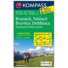 Carta escursionistica n. 57. Brunico, Dobbiaco, Alta Val PusteriaBru neck, Toblach, Hochpustertal. Adatto a GPS. DVD-ROM. Digital map