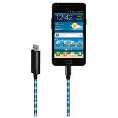 Cavo Luminoso con Connettore Micro USB e USB Nera 0.8 m KELIGHTMCUSB