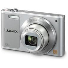 PANASONIC - Lumix DMC-SZ10 Argento Sensore CCD 16Mpx Zoom Ottico 12x Display 2.7' Filmati HD Ready Stabilizzato