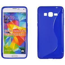 Cover S-Line in silicone Blu per Samsung Galaxy Grand Prime