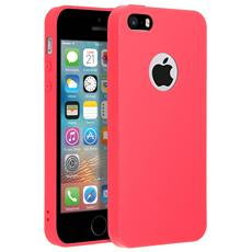 Cover Iphone 5 / 5s / Se Soft Touch Silicone Gel Morbido - Rossa