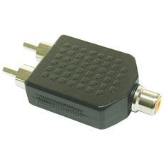 99311 RCA 2xRCA Nero cavo di interfaccia e adattatore