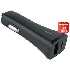 IUSB2-CAR3-3AC1A - Caricatore da Auto USB + USB-C con uscita 3A Nero