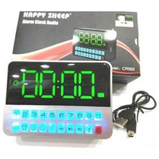 Orologio Radio Sveglia Da Comodino 562 Digitale Allarme Lcd Radio Fm Display Tf Usb Con Luce Led Per Ipovedenti