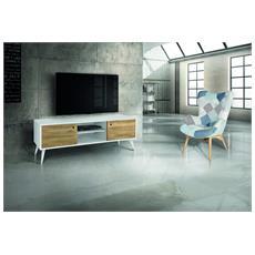 Porta Tv 160x45 H. 55 Abete Spazzolato