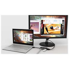 JUA370, USB3.0, USB3.0, / RJ45 / VGA, Maschio / femmina, Nero, Attività, Collegamento, 2048 x 1152 Pixel