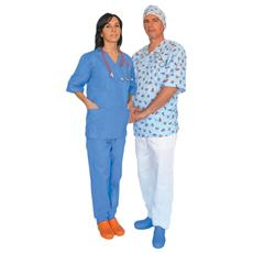 Pantaloni Cotone - Azzurri - Xs