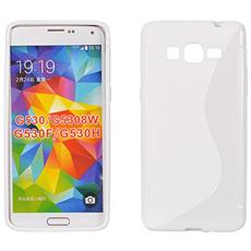 Cover S-Line in silicone Trasparente per Samsung Grand Prime