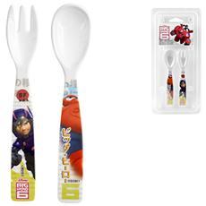 Set 6 X Cucchiaio Forchette Melamina Disney Bighero Mondo Baby