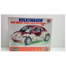 7095 Bausatz Vw Volkswagen New Beetle Flower Power 1998 - Scala 1:18