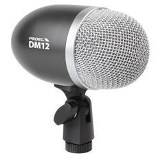 DM12 Il DM12 è un microfono per la ripresa di cassa trombone contrabbasso e strumenti simili con elevato SPL Supporto per il montaggio integrato Risposta polare cardioide Ottima risposta ai transienti Low frequency extension Elevato SPL Robusta struttura metallica Support integrato