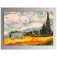 ARTE DAL MONDO - Campo Di Grano E Cipressi Quadro Dipinto Ad Olio A Mano Su  Tela Montata Su Telaio Estetico 274a9549495c