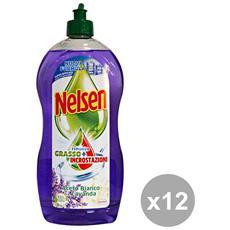 Set 12 Piatti 900 Ml. Aceto E Lavanda Detergenti Casa