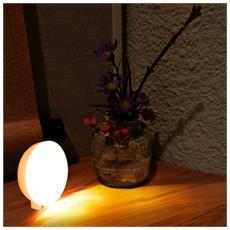 Luce Sensore Di Movimento Luce Notturna A Led A Batteria Bianca - 2 Pezzi